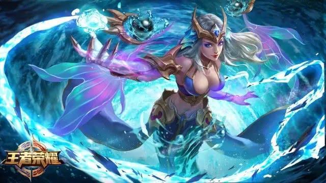 王者荣耀:武则天星传说深海公主登场 海洋之心优化重做四月回归