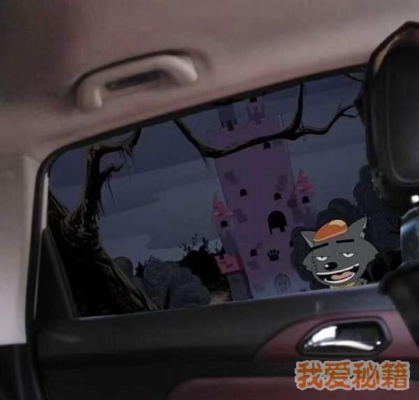 抖音开车到青青草原羊村表情包图3