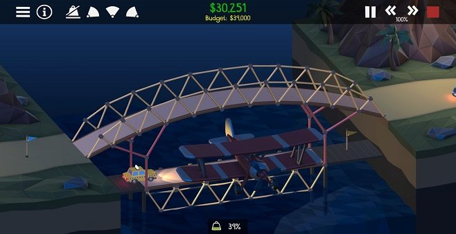 好玩的桥梁建造游戏